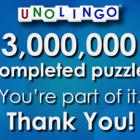 3 Million Puzzles